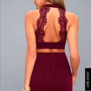 Lulus 2 piece dress